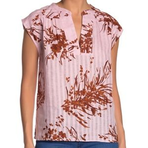 NWT Joie Narumi Linen Floral Sleeveless Top Small